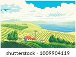 rural landscape with a... | Shutterstock .eps vector #1009904119