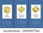 best choice premium award... | Shutterstock .eps vector #1009907764