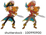 Cartoon Pirate Girl Swaying The ...