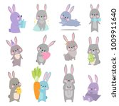 vector set cartoon illustration ... | Shutterstock .eps vector #1009911640