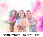 holi festival of colors party... | Shutterstock . vector #1009913146