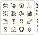 business line icons set shield... | Shutterstock .eps vector #1009914640