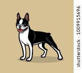 boston terrier dog   vector... | Shutterstock .eps vector #1009915696