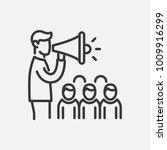 election campaign  line design... | Shutterstock .eps vector #1009916299