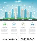 city infographic. modern city... | Shutterstock .eps vector #1009918360