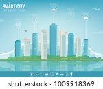 city infographic. modern city... | Shutterstock .eps vector #1009918369