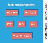 flat design social media...   Shutterstock .eps vector #1009919530