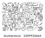 Set Of Handmade Doodles With...