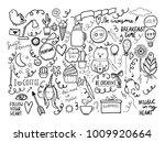 set of handmade doodles with...   Shutterstock .eps vector #1009920664