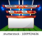 scoreboard broadcast graphic... | Shutterstock .eps vector #1009924636