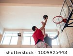 two young man playing... | Shutterstock . vector #1009925443