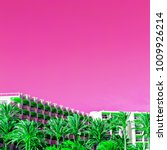 tropical surreal pink mood.... | Shutterstock . vector #1009926214