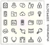 valentine's day line icons set... | Shutterstock .eps vector #1009926778