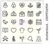 valentine's day line icons set... | Shutterstock .eps vector #1009926904