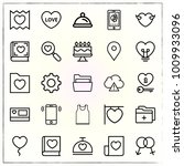 valentine's day line icons set... | Shutterstock .eps vector #1009933096