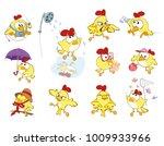 vector set of cute chickens in...   Shutterstock .eps vector #1009933966
