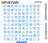 dashed outline icons pack for... | Shutterstock .eps vector #1009934020