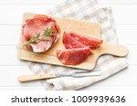 sliced prosciutto crudo on... | Shutterstock . vector #1009939636