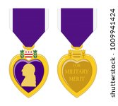 purple heart medal front and... | Shutterstock .eps vector #1009941424