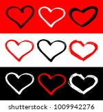 set of red  black and white... | Shutterstock . vector #1009942276