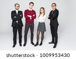 group of smiling business... | Shutterstock . vector #1009953430
