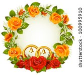 Flower Frame. Vector Yellow An...