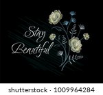embroidery for fashion with... | Shutterstock .eps vector #1009964284