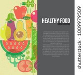 healthy food  background with... | Shutterstock .eps vector #1009979509