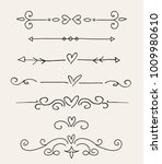 hand drawn floral dividers set | Shutterstock .eps vector #1009980610