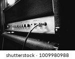 close up of a guitar amplifier... | Shutterstock . vector #1009980988