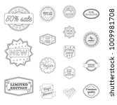 different label outline icons... | Shutterstock .eps vector #1009981708