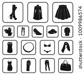 women's clothing black icons in ...   Shutterstock .eps vector #1009986574