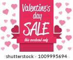 valentine's day sale  vector... | Shutterstock .eps vector #1009995694