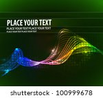 abstract glowing lines of light ... | Shutterstock .eps vector #100999678