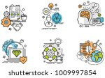 set of outline icons of... | Shutterstock .eps vector #1009997854