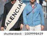 milan   january 14  two men...   Shutterstock . vector #1009998439