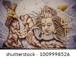 sculpture of the indian god... | Shutterstock . vector #1009998526