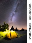winter camping under milkyway | Shutterstock . vector #1010002006