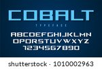 cobalt vector decorative font... | Shutterstock .eps vector #1010002963