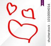 stick figure heart on the white ... | Shutterstock .eps vector #1010004016