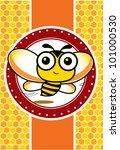happy bee   Shutterstock .eps vector #101000530