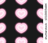 neon heart pattern vector  | Shutterstock .eps vector #1010005684