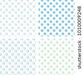 flat line in pea pattern vector  | Shutterstock .eps vector #1010009248