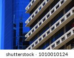 two glass in concrete office...   Shutterstock . vector #1010010124