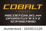 cobalt vector decorative font... | Shutterstock .eps vector #1010011120
