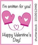 i am smitten for you valentine | Shutterstock .eps vector #1010012440