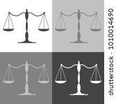 balance scale icon. vector...   Shutterstock .eps vector #1010014690
