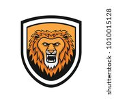 lion mascot head vector... | Shutterstock .eps vector #1010015128