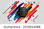 vector  abstract geometric... | Shutterstock .eps vector #1010016088