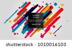 vector  abstract geometric... | Shutterstock .eps vector #1010016103